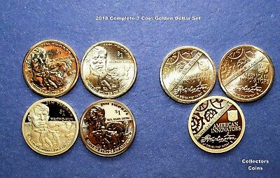 2018 PDS +S 7 Coin COMPLETE Dollar Set w4 Sacagawea & 3 Innovation $'s BEAUTIFUL