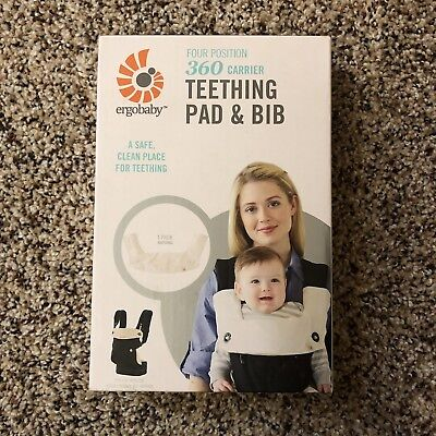 f2d3befca92 Ergobaby Four Position 360 Carrier Teething Pad and Bib NEW in Natural Color