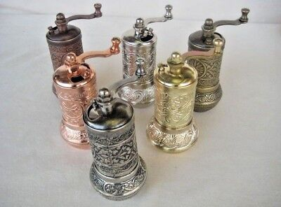 New! Turkish Pepper Salt Grinder Spice Grinder Mill 4.3 inch / 11cm