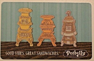 New Unused Potbelly Sandwich Shop,Old Stoves Collectible Gift Card No Cash Value