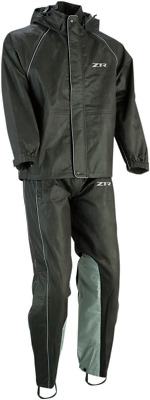 Z1R Rain Suit Size X-Large Black