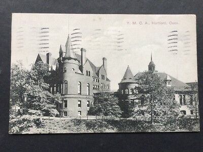 Vintage 1908 Postcard YMCA Building Hartford Connecticut CT Conn