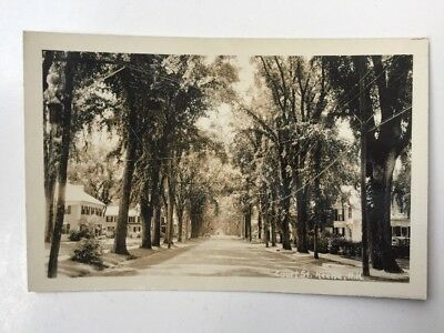 UDB Real Picture Postcard Keene New Hampshire NH Court Street Homes Power Lines
