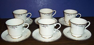Lot Of 6 Gorham Manhattan Cups And Saucers Never Used  Free U S Shipping