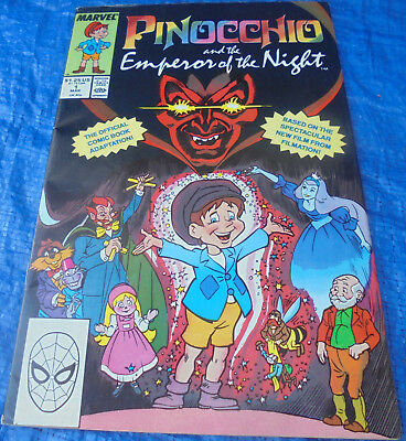 Marvel Comics Pinocchio And The Emperor Of The Night Movie Adaptation Filmation