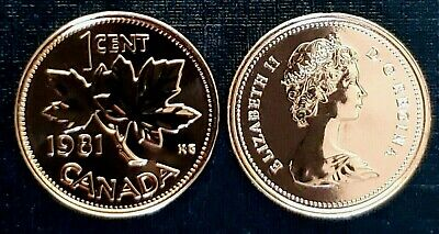 Canada 1981 Proof Like UNC Small Cent Penny!!