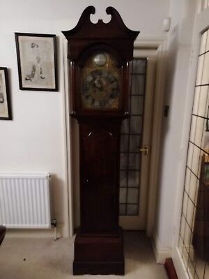 18th Century Longcase Clock Brass Dial James Niccoll Canongate