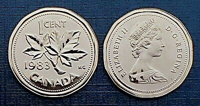 Canada 1983 Proof Like UNC Small Cent Penny!!
