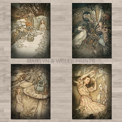 """Alice in Wonderland/"""" by Arthur Rackham 1975 full Color Plate /""""But Who Has Won"""