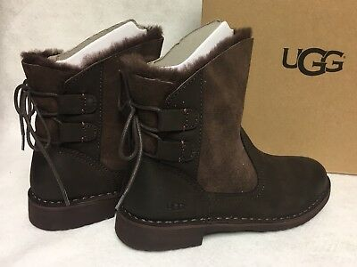 30658be6dd4 UGG AUSTRALIA NAIYAH Black Boot Lace Up Shearling Lace Up women's ...
