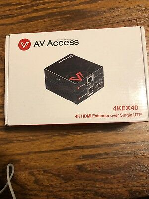 AV Access 4KEX40 4K HDMI Extender Over Single UTP