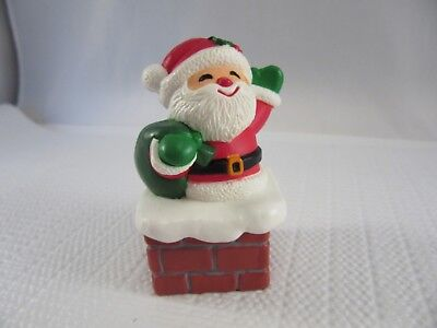 Hallmark CHRISTMAS Merry Miniature (1984) - Santa in Chimney Container