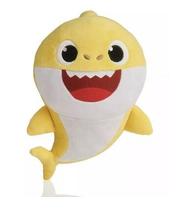 Wowwee Yellow Baby Shark Official English Singing Version Plush Pinkfong In Hand