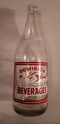 "Rare Canadian (Hamilton) ""dominion  Beverages"" 30 Oz Clear - Red/white Acl"