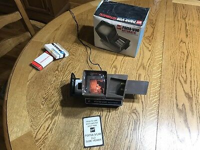 GAF Pana-Vue Automatic 2x2 Slide Viewer Wide Screen Viewing (boxed) Used
