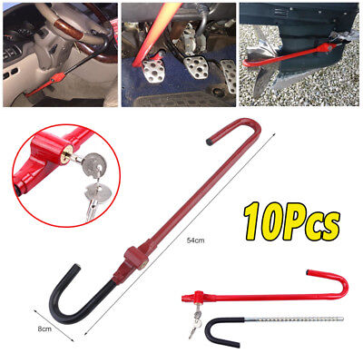 10x Car Anti-theft Pedal to Steering Wheel Lock Keys Car Truck High Security BE