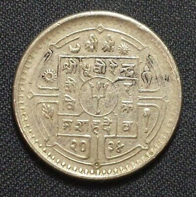 1977 Nepal Coin 1 Rupee  #1905