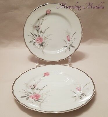 Vintage – Fine China of Japan – Breath O'Spring – 2 Bread Plates