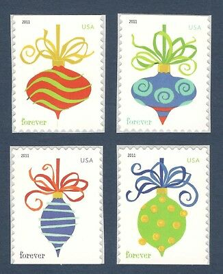 4575-8 Holiday Baubles SSP Forever Set Of 4 Mint/nh Free Shipping (A-319)