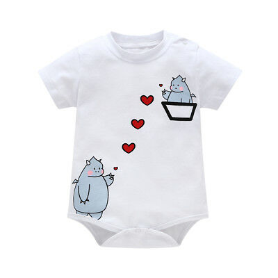 Summer Newborn Girl Boy Baby Romper Bodysuit Jumpsuit Sunsuit Outfits Clothes