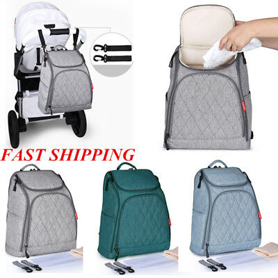 Multifunctional Baby Diaper Nappy Backpack Waterproof Large Changing Bag 2018F1