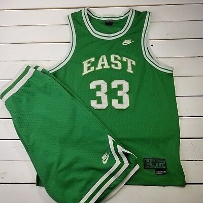 edfeb5d2601f Nike Supreme Court East Larry Bird Jersey Shorts Mens Size Large Length +2  T147