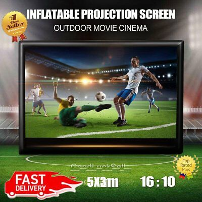 16x10ft 5x3M 16:10 Giant Inflatable Movie Screen Outdoor Cinema Projector Theatr