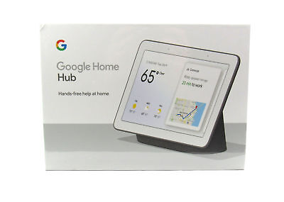 Google Home Hub with Google Assistant (GA00515-US) Brand NEW - Charcoal