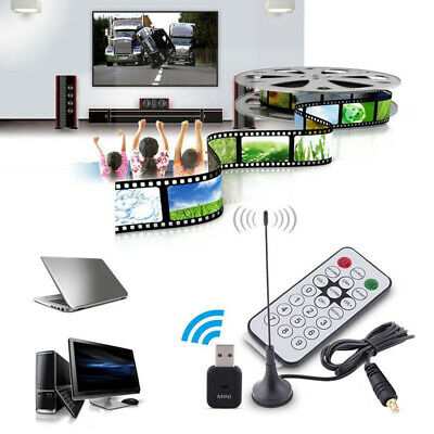 USB2.0 Digital DVB-T SDR+DAB+FM HDTV Tuner Receiver Dongle Stick RTL2832U+R820T2