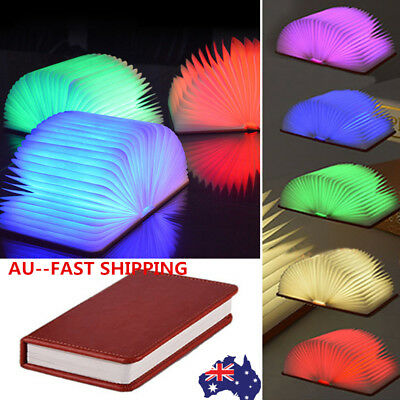 5 Colors Books Nightlight USB Rechargeable LED Folding Lamp Book Creative WH