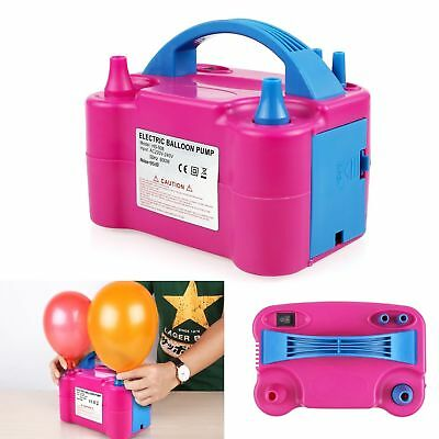 High Power 240V Electric Air Pump Blower Party Festival Balloon Inflator UK Plug