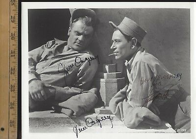 JAMES CAGNEY GEORGE RAFT-SIGNED BY BOTH PHOTO-Film Hoofer-Gangsters