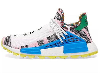 3401ab140 Adidas x Pharrell Williams Human Race Trail NMD US 9.5 Teal   Sun Glow  AC7188.