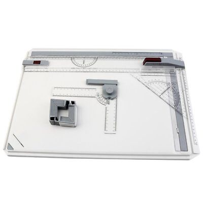 A3 Drawing Board Table with Parallel Motion Adjustable Angle Art Drawing Tools A