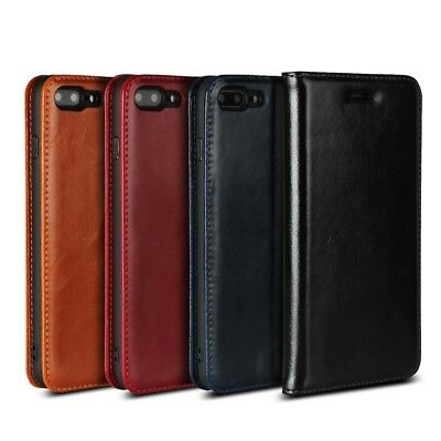 Genuine Leather Phone Case Cover with Card Slot for iPhone 8 Plus/7 Plus 5.5inch