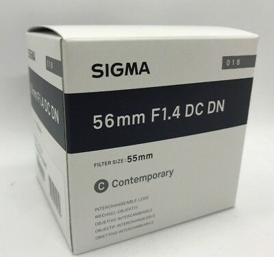 New SIGMA Contemporary 56mm f1.4 DC DN Lens for Sony E Mount Mirrorless  APS-C