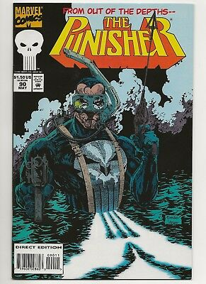 Punisher #90  VF/NM  Marvel (1987 2nd Series) w/ Trading Cards   *Free Shipping*