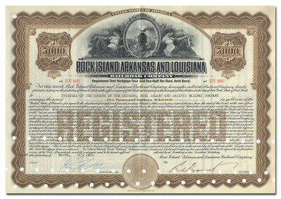 Rock Island, Arkansas and Louisiana Railroad Company Bond Certificate