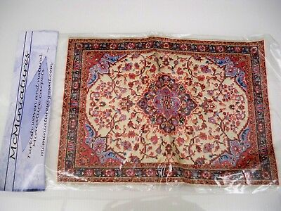 2 Minature New Doll House Woven Carpet Rugs - Both Included 11 1/2'' By 8''