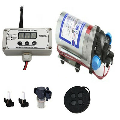 Water Fed Pole Shurflo Pump & Wfp Link Remote Control Pump Controller Set