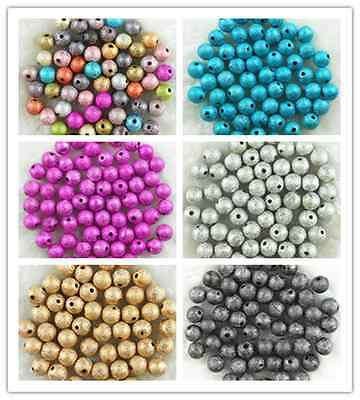 4mm 6mm 8mm 10mm Acrylic Stardust Round Spacer Loose Beads