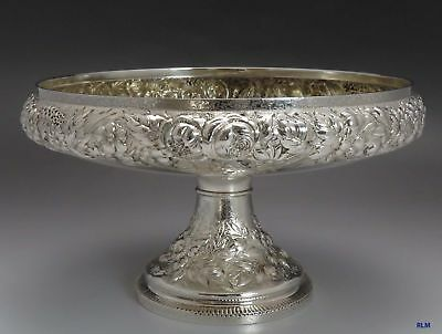 1875-1891 Antique Tiffany & Co. Sterling Silver Repousse Dish or Bowl