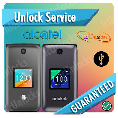 Alcatel Remote Unlock Service code for Alcatel Go Flip ot-4044O AT&T  VIA USB