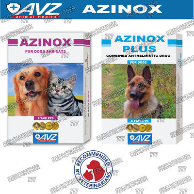 Azinox Multi Wormer Tablets, dewormer, for worming Dogs & Cats 6 tablets
