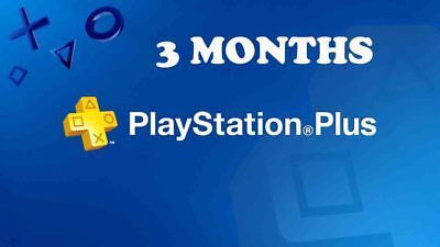 PS Plus 3 Months PlayStation Plus PS4 PS3 Vita 6 14-Day Membership | NO CODE