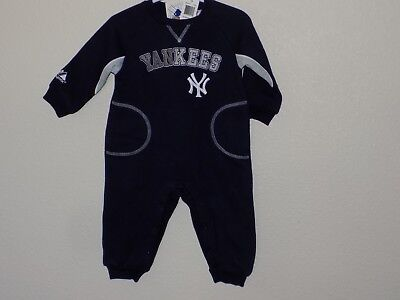 Majestic New York Yankees Infant Long Sleeve One piece-Sz-12 M-Cotton  blend