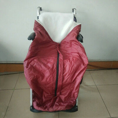 Plush Fleece Lining Wheelchair Warmer Cover Blanket Wheel Chair Warm Bag