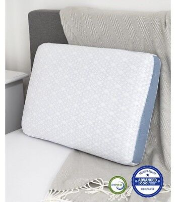 RRP$199 Gel Infused 1200GSM Memory Foam Pillow Odyssey Standard Pillow 60x40cm