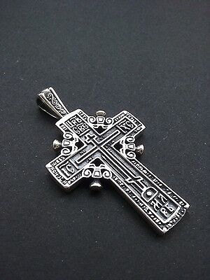 BIG Russian Greek-Orthodox-Byzantine-BIG Cross Silver 925 Cross
