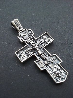 Russian Greek-Orthodox-Byzantine-Silver 925- Cross